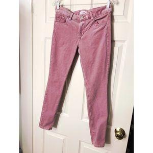 🆕 LOFT Corduroy Skinny Curvy Pink Pants Size 2